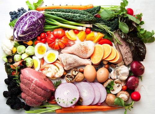 Carne, pesce, frutta e verdura
